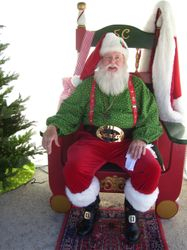 Santa's first public appearance for 2010