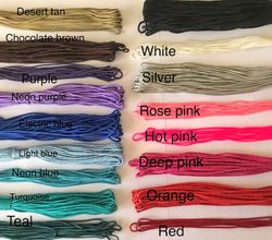 String 2mm Cord Colours
