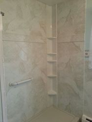 After Shower in Silver White Marble