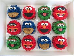 Muppet themed cupcakes