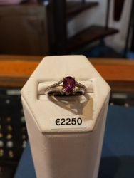 18ct Diamond and Pink Tourmaline ring
