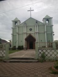 CHURCH IN WESTERN TOWN IN BELIZE