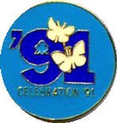1991 Ranger Jubilee Metal Badge