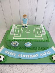 Football Pitch Birthday Cake