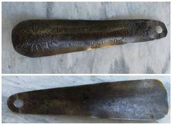 Antikvarinis metalinis batu saukstas. Kaina 8