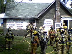 Delaware Twp. Training Fire, 5-15-11