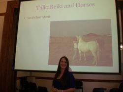 Sarah talking about Equine Reiki