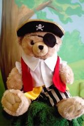 Bear in pirate costume - display only