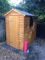 Shed build as bike store