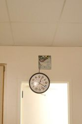 That darn clock.  Momma didn't like it, so we handled it.