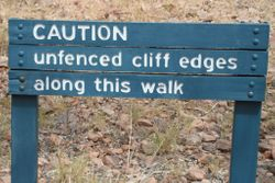 Sign at the Indarri Falls end of the Cliff Top Walk