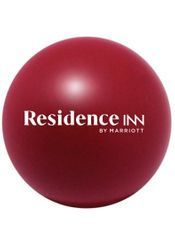 "Stress Balls, Burgundy. 3"" Diameter - Squeeze away stress!"