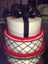 Two Tiered Cake with Bow