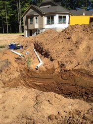 Sewer Line From House Waiting to Hook Up To Tank