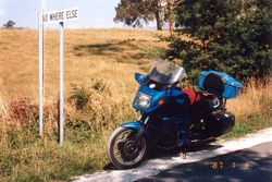 Tom's K75RT at No Where Else after the 1996 AGM Hobart - Mar 1996