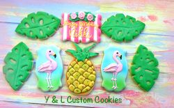 Birthday Cookies Tropical Theme