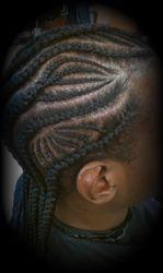 Design mini fishbone design braids by Bee