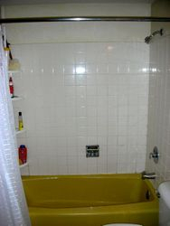 Before: gold tub