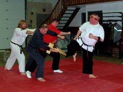2 Board Break Side Kick