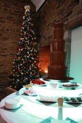Christmas chocolate fountain hire at Mosborough hall Sheffield