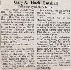 Gutshall, Gary X. 2001