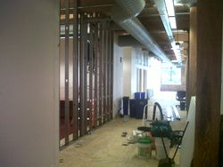 Progress Image 1: Metal Framing Going Up For New Storage Room