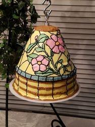 Tiffany style lampshade cake