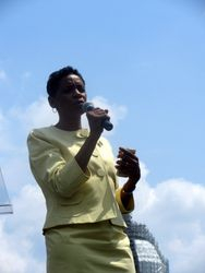 Congresswoman Yvette Clarke at the Rally at 2015 NCIL Conference