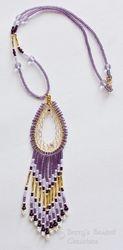 Beaded Dreamcatcher Necklace