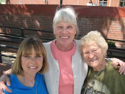 Volunteer Gail Barnes (L.), Carol Lee (C.) and Doris Mager (R.)
