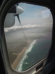 Amazing coastline out of the little scheduled airplane