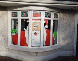 Santa Clause Window painting