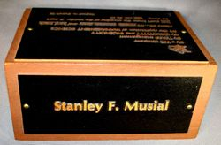 STAN MUSIAL'S OWN Desk Paperweight Name Plate