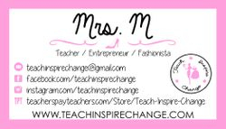 Business Cards for Teach Inspire Change