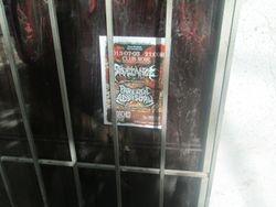 An imprisoned promotional flyer...