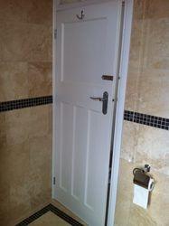 Bathroom door.
