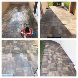 Paver, Pressure Cleaning, Resand and Sealing