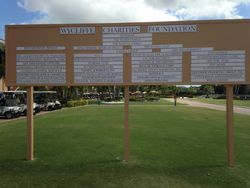 Golf Tournament Sponsor Board