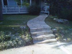 Quartzite Flagstone sidewalk and steps in Boulder Colorado