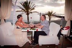 The start of the romantic dinner