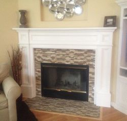 Tile Fireplace Mantle