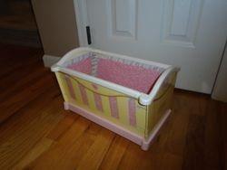Rose Petal Cottage Doll Cradle - $15