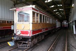 Tunnel Car No. 9 on shed.