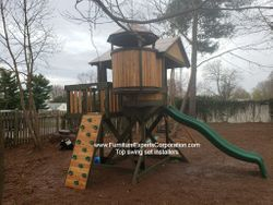 Backyard Discovery Eagle's Nest Elite Playset installation in Columbia Maryland