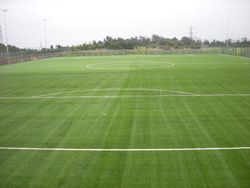 3G Astroturf pitches head on view