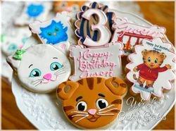 Daniel Tiger Decorated Cookies