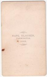 Karl Klauser, photographer of Farmington, CT - back