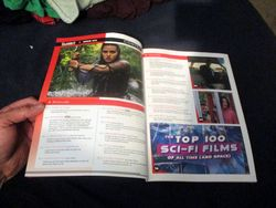 Page Spread with Table of Contents in Starburst Magazine #473: The Top 100 Sci-Fi Films of All Time (and Space) Collectors? Edition