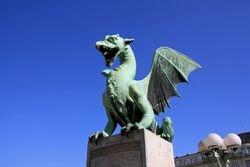 Dragon Bridge, Ljubljana Slovenia