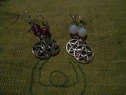 Pentagramörhängen/ Pentacle earrings